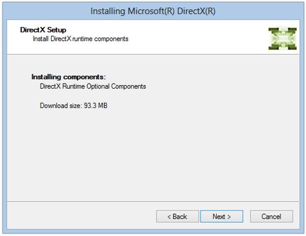 Загрузка и установка обновлений DirectX